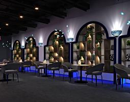 地中海风格简餐厅185㎡