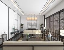 曹欹+新中式会客厅